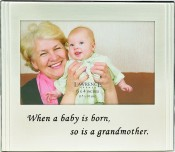 Brushed Silver Grandmother Picture Frame with Inscription