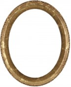 Trina Champagne Gold Oval Picture Frame