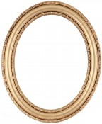 Melinda Gold Oval Picture Frame