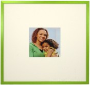 Cyber Green Matted Square Picture Frame