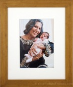 Huron Matted Bamboo Picture Frame