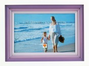 White and Purple Frame with Wood Mats