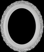 Mia Linen White Oval Picture Frame
