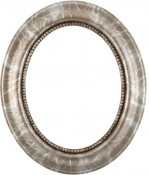 Laurel Champagne Silver Oval Picture Frame