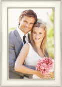 White Enamel Silver Plated Picture Frame