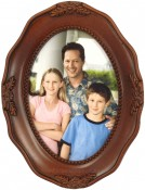Decorative Walnut Oval Frame