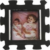 Kids Black Foam Picture Frame
