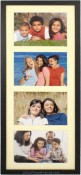 Black Wood Linear Matted Collage Picture Frame