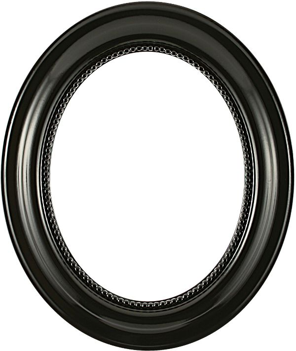 Laurel Gloss Black Oval Picture Frame