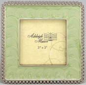Green Enamel Square Picture Frame