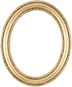 Melinda Gold Leaf Oval Picture Frame