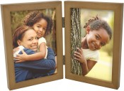 Simple Nutmeg Double Picture Frame