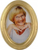 Classic Gold Leaf Oval Frame
