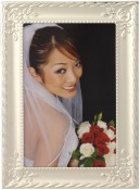 Silver Rose Flower Picture Frame