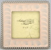 Pink Enamel Square Picture Frame