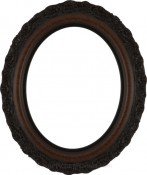 Mia Vintage Walnut Oval Picture Frame
