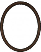 Sadie Vintage Walnut Oval Picture Frame
