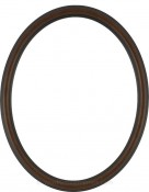 Laini Walnut Oval Picture Frame