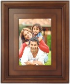 Dimensional Walnut Wood Picture Frame