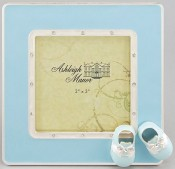Blue Saddle Shoes Baby Picture Frame