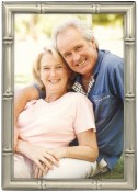 Bamboo Pewter Metal Picture Frame
