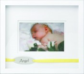 White Baby Picture Frame with Angel Wording