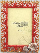 Red Coral Shell Picture Frame