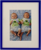 Galactic Blue Picture Frame with Mat