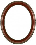 Trina Rosewood Oval Picture Frame