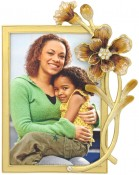 Autumn Flowers Jeweled Picture Frame