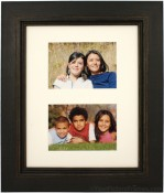 Palladio Black Distressed Double Picture Frame