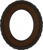 Ella Walnut Oval Picture Frame