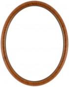 Gilda Vintage Walnut Oval Picture Frame