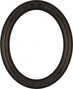 Chloe Dark Walnut Oval Picture Frame