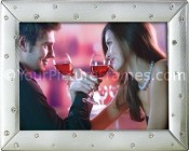 Silver Metal Jeweled Picture Frame