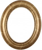 Laurel Champagne Gold Oval Picture Frame