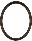 Nora Ornate Walnut Oval Picture Frame