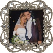 Jeweled Elegance Square Picture Frame