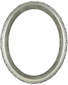 Trina Silver Leaf Black Oval Picture Frame