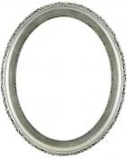 Trina Silver Leaf Black Oval Picture Frame