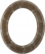 Bianca Champagne Silver Oval Picture Frame