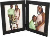 Basic Wood Black Double Picture Frame