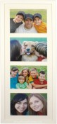 White Wood Linear Matted Collage Picture Frame