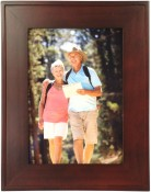 Flat Walnut Wood Picture Frame with Raised Edge