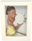 3/4 Deep White Shadow Box Picture Frame