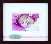 Princess Picture Frame with Pink Ribbon