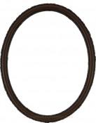 Sadie Walnut Oval Picture Frame