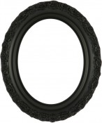 Mia Matte Black Oval Picture Frame