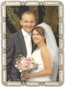 Nina Clear Jeweled Picture Frame