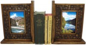 Coconut Shell Rustic Picture Frame Bookends